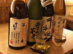 各地から地酒を各種ご用意いたしました。飲み比べもオススメです