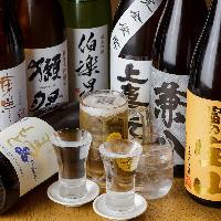 飲み放題には獺祭など7つの日本酒含め40種類以上ラインナップ
