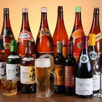 生ビールやウィスキー、焼酎などドリンクを豊富に揃えております