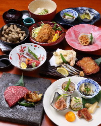 鹿児島県郷土料理と旬の素材を使ったコースが人気