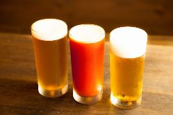 ビールや珈琲を始め、ドリンクにもこだわりを・・・。
