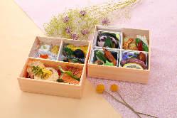 季節のお弁当や松花堂はビジネスシーンにも喜ばれております