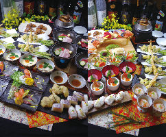 美味しい魚と創作料理、板前寿司をお楽しみください。