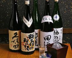 日本酒にこだわっており種類豊富に取り揃えております◎