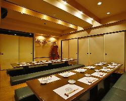 大人数宴会に最適な最大50名様までの個室をご用意!
