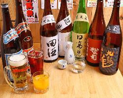 日本酒好きの集まりには厳選酒10種を楽しめる飲み放題がおすすめ