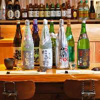 奈良の地酒をはじめ、全国各地の 美酒を多数取り揃えております