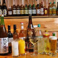 ビールや焼酎、果実酒まで 飲み放題は充実の内容です