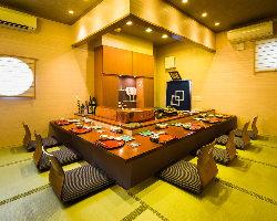 宴会や接待でも利用出来る個室です。