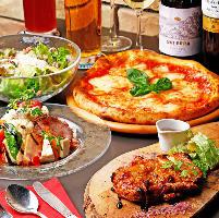 ピザが選べる120分飲み放題付き全8品4000円コースはご宴会に最適