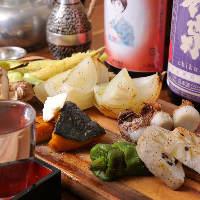 自慢のコースは、鮮度抜群の魚介やお野菜も存分に味わえます。