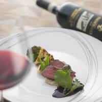 コースの各メニューに合うワインをご提案することも可能です