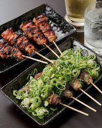 選り抜いた素材を贅沢に使用した串焼きをお楽しみ頂けます!