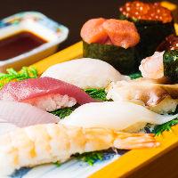 艶やかなネタはどれも新鮮そのもの!「お寿司盛り合わせ」