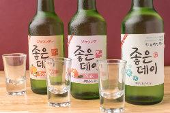 ホンチョ・ジョウンデーなど韓国で大人気のお酒が充実♪