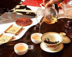 中国茶の種類も豊富にご用意しております。