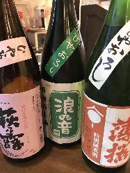 季節の日本酒有ります 約15種類