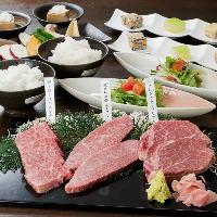 和風の石焼き焼肉はお塩・胡椒・ポン酢・卵ダレと共に!