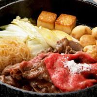 ■すき焼きは、お肉本来の旨味を引き出す、最小限の味付けのみ