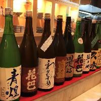 全国各地の日本酒を常時20種ご用意しております