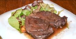 絶妙な焼き加減が◎ジューシーな鹿肉のステーキは絶品です。