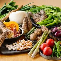 自家農園で収穫した新鮮でみずみずしい野菜を使用しております