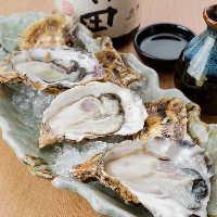 牡蠣など季節の食材を使ったお料理を豊富にご用意しています。