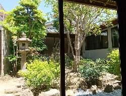 古民家を改装したお店は、中庭も素敵な景色が堪能できます。