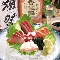 季節の鮮魚のお造りもございます。安いです!おすすめです!!