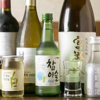 ワインや韓国酒など、お肉に合うお酒も各種取り揃えています!