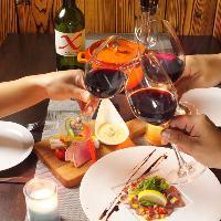 お肉は豊富なワインで乾杯!肉とワインのマリアージュ♪