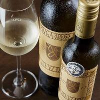 赤・白・泡とワインは一通りご用意しています。ご相談ください。