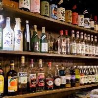 【多彩なドリンク】 バラエティに富んだ品揃えと日本酒が自慢