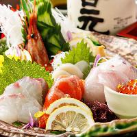 毎朝仕入れる新鮮な海の幸は全国の日本酒、焼酎との相性も抜群!