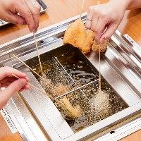 【セルフ】 新鮮な油で揚げたての串かつは、何よりのごちそう。