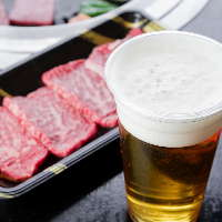 生ビールやチューハイなど、お肉に合うドリンクをご用意