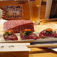 店主おすすめ☆ 伊賀牛炙り肉寿司です。