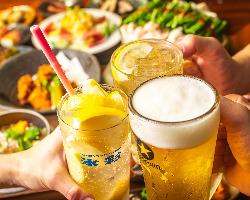 3杯以上飲むなら飲み放題がお得!単品飲み放題もございます!