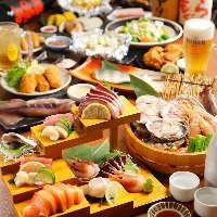 食べ飲み放題のコースが充実♪3080円~