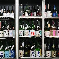 常時100種以上!圧巻の日本酒!