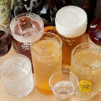 飲み放題は単品料理にもおつけできます。時間延長も可能