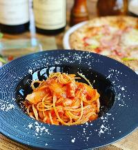ランチはパスタやピザ本格イタリアンをお楽しみください♪