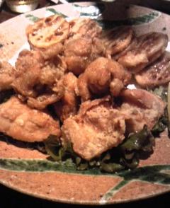 チキンとハスの唐揚げ