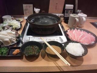 国産豚ロース定食