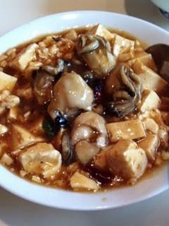 日替わりランチ 牡蠣の豆腐炒め