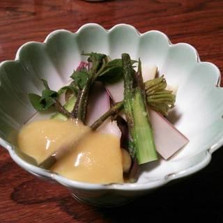 天然ウド酢味噌