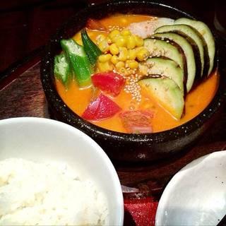 夏野菜の冷やしスンドゥブ