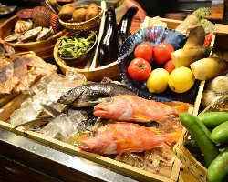 お魚はもちろん!季節を感じられる旬の食材を厳選して使用