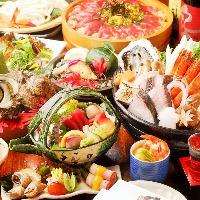 飲み放題付き宴会コースは9品4000円~。飲み会や二次会に人気。