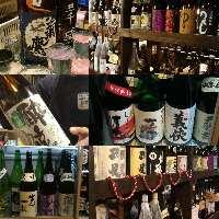 愛知の地酒から厳選種が常時10種以上ご用意しております。